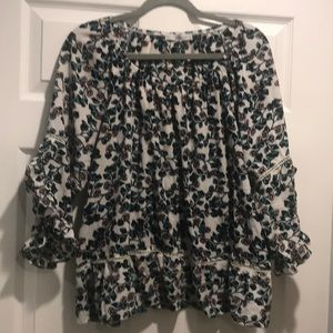 1X floral blouse fever brand